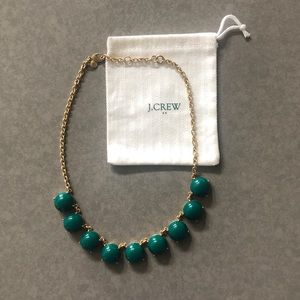 J Crew green and gold statement necklace